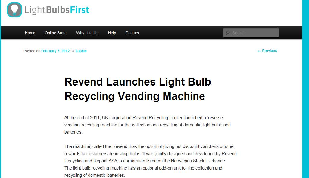 Light Bulbs First